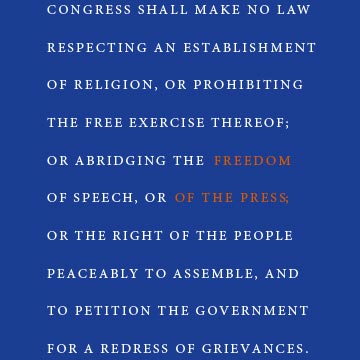 National Press Foundation link: First Amendment 101